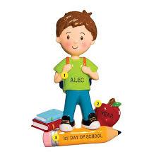 day of school ornament boy callisters