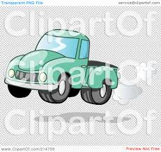 Vintage Ford Truck Exhaust - royalty free rf clipart illustration of a vintage green pickup