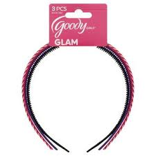 goody striped plastic headbands 3 pcs