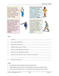 La Familia Worksheets Ks3 Reading Teachit Languages