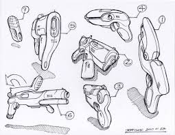 concept sketches linework multiple ideas per page by jeff smith