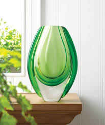 Emerald Home Decor Emerald Art Glass Vase Wholesale At Koehler Home Decor
