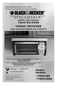 Black And Decker Spacemaker Toaster Oven Parts Black And Decker Toaster Oven Tros1000 User Manual