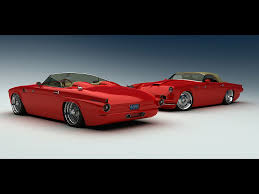 1955 ford thunderbird custom from vizualtech duo red 1024x768