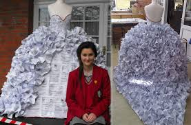paper wedding dress paper wedding dress made from divorce papers stylefrizz photo