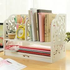 Decorative Desk Organizer Creative Home Office Decorative Bookends Book Holder Carved Wooden