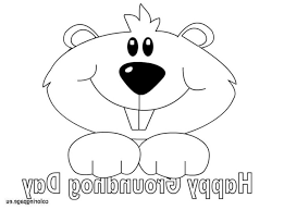 Groundhog Coloring Page Coloring Pages Kids Groundhog Color Page