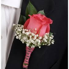 Corsage And Boutonniere Cost Rose Dark Pink And Orange Boutonniere And Corsage Wedding Package
