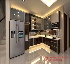 Kitchen Set Minimalis Untuk Dapur Kecil Desain Dapur Kering Hpl Karya Arta Interior
