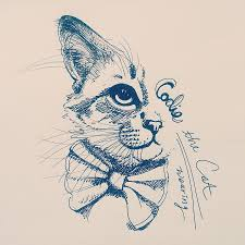 codie wearing a bow tie drawing by pookie pet portraits