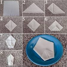 how to fold table napkins paper napkin folding instructions create festive tischedeko