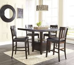 High Top Dining Room Table Haddigan Dark Brown Rectangular Extendable Counter Height Dining