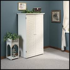 sauder harbor view bookcase with doors antique white sauder harbor view craft armoire