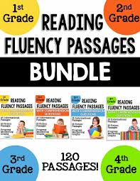 reading passage 1st grade 1st 2nd 3rd and 4th grade reading fluency passages learning