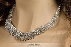 crystal choker necklace set images Docia elegant rhinestone choker necklace set crystal beloved jpg