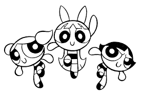 powerpuff girls coloring pages kids free printable coloring