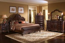 Furniture Bedroom Set Dark Wood Bedroom Furniture Black Leather Tufted Bed By Tommy