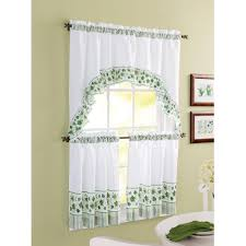 better homes and gardens ivy kitchen curtain set walmart com