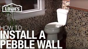 What Is An Accent Wall Install A Pebble Tile Accent Wall Installation Youtube