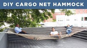 diy giant hammock made from a cargo net youtube
