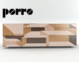 Sideboard Modern Modern Cupboard Sideboard Inlay Porro 3d Cgtrader