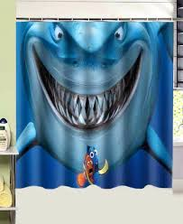 nemo shower curtain bathroom s finding fish shark printed polyester fabric shower curtain finding nemo shower curtain