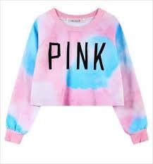 2017 crop women pink hoodies pink letters printed dazzle