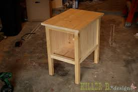 Free Mission End Table Plans by End Table With Storage Plans Storage Decorations