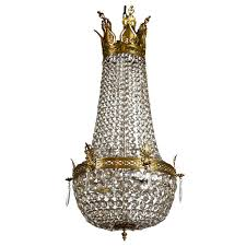 Crystal And Bronze Chandelier French Empire Style Bronze And Crystal Chandelier At 1stdibs