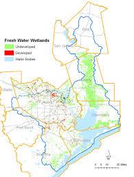 Galveston Map Freshwater Wetlands