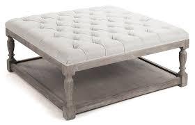attractive large tufted ottoman u2013 interiorvues