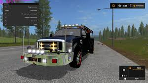 minecraft pickup truck ford f 350 brush truck v1 0 fs17 farming simulator 17 2017 mod