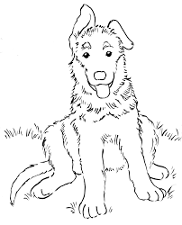 german shepherd coloring pages puppy omeletta