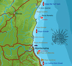 Florida Coast Map East Coast Map Of The Southern Nicoya Peninsula