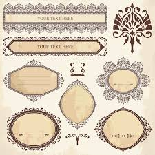 classical ornaments frames vintage style vector set free vector in