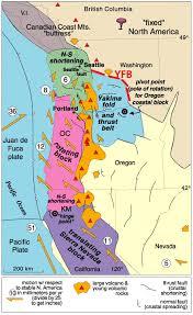 physical map of oregon juan de fuca plate home
