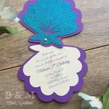 mermaid themed birthday invitations alanarasbach com