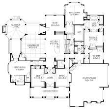 unique floor plans for homes floor plans aflfpw03459 1 story craftsman home with 4 bedrooms 3