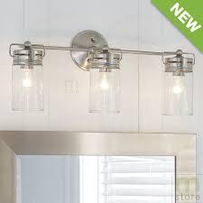 nickel bathroom wall light fixtures bathroom vanity 3 light fixture brushed nickel jar wall lighting