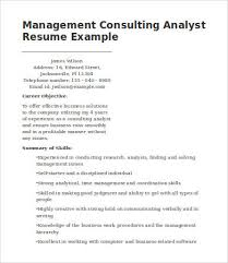 Management Consulting Resume Examples by Management Consulting Resume 7 Free Word Pdf Documents