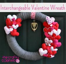 valentines day wreaths the crafty scientist interchangeable s day wreath