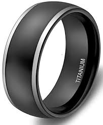mens black titanium wedding rings 8mm unisex or men s wedding bands mens wedding rings black