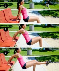 Triceps Bench Dips Tricep Dip 6 Strength Training Moves You Can Do With A Park Bench