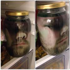halloween glass jars how to scare your wife on halloween print your face on paper put
