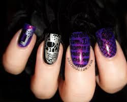 nail art moyouothic collection purplelitter stamp nail art