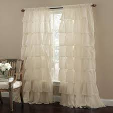 Ruffled Kitchen Curtains 23 Each Shabby Chic Curtains Ruffled Window Curtains