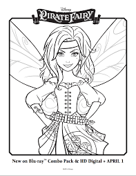 the pirate fairy coloring sheets disney u0027s the pirate fairy