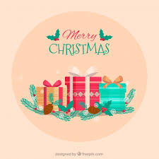 pretty merry background with gift boxes vector free