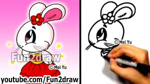 how to draw a cartoon bunny drawing tutorials cute art