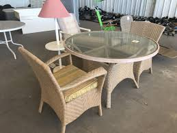 Repair Wicker Patio Furniture - light brown rattan wicker patio set with round glass table needs